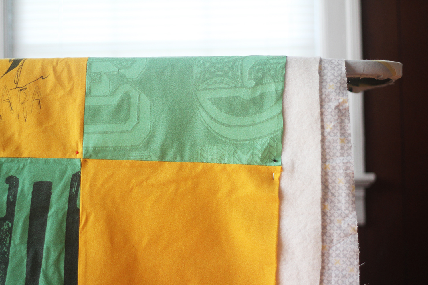 DIY T-Shirt Quilt: Patience is so, so important when quilting for the first time. You can do it!