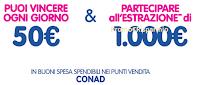 Logo Mellin per Conad : vinci 56 carte prepagate da 50 € e due da 1.000 €