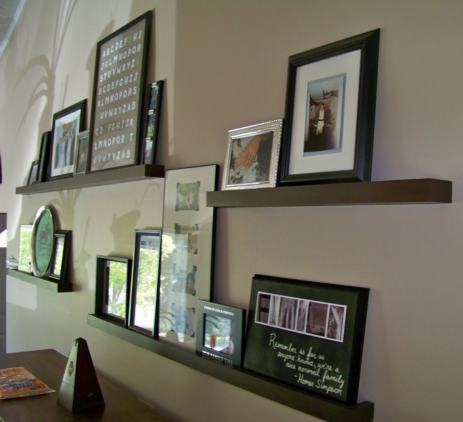 Forever Young House Ideas: Picture Ledges