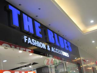 Thi cong hop den mica led chu noi the blue