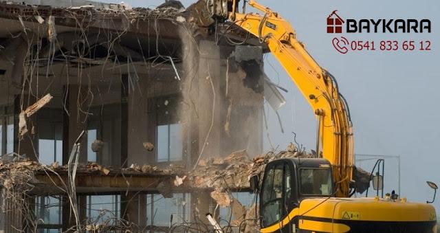Yenibosna bina yıkım işleri