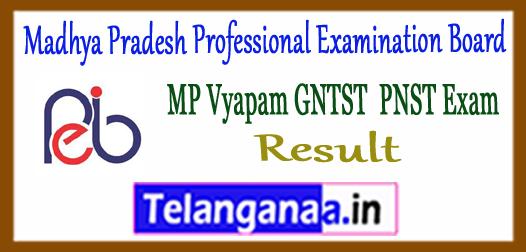Madhya Pradesh VYAPAM GNTST PNST Result 2017 Cut Off Marks Merit List