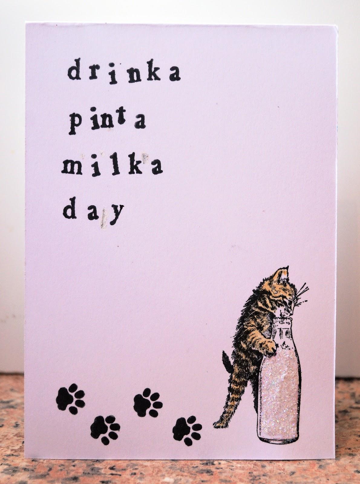 Onions And Paper Drinka Pinta Milka Day