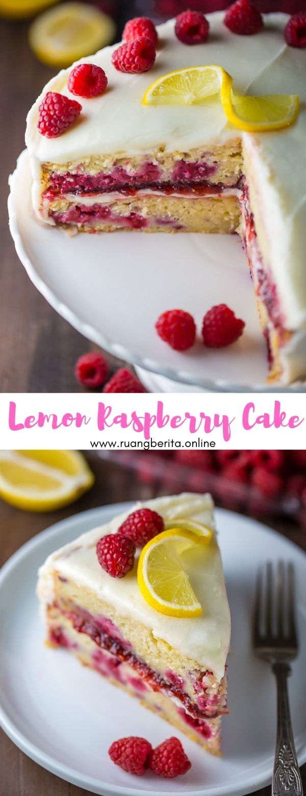 Lemon Raspberry Cake #dessert #lemon #raspberry #cake