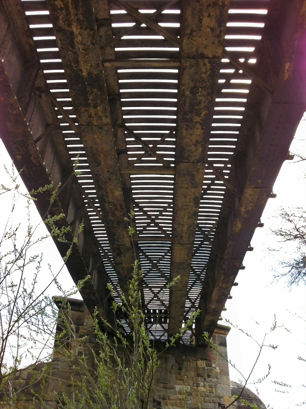 Thorp Arch Viaduct was see-through in 2013