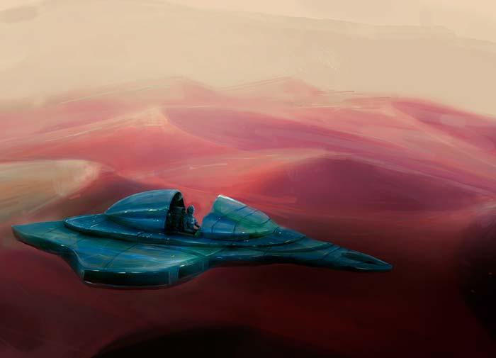 Ilustración, Arrakis de Ezequiel Facci