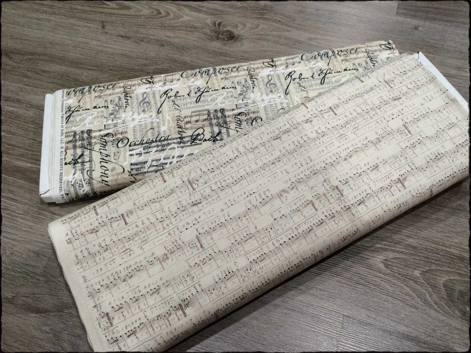 Telas de patchwork musicales