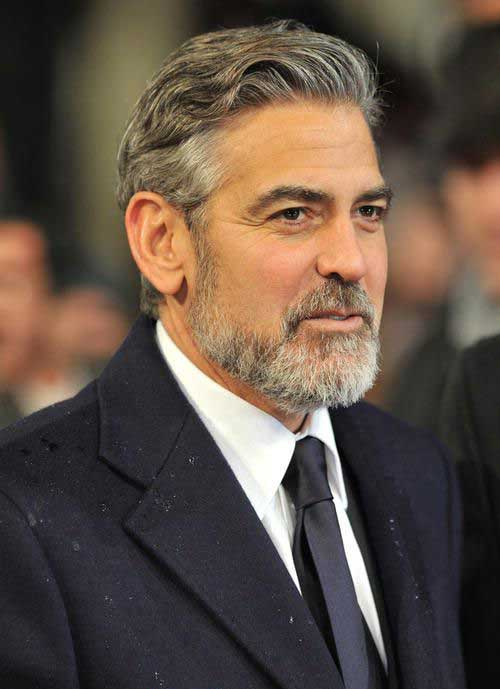 32 Handsome George Clooney S Hairstyles Hairstylo