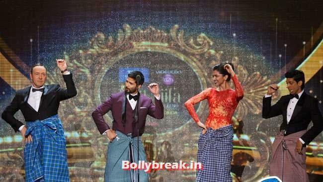 Kevin Spacey,  Shahid Kapoor, Deepika Padukone and Farhan Akhtar, IIFA Awards 2014 Pics