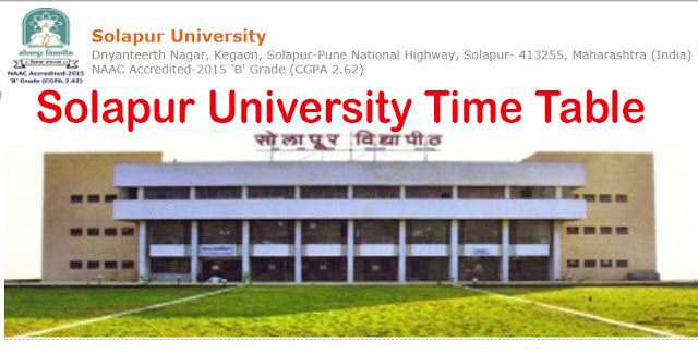 Solapur University Time Table Pdf Download Current Exam Schedule