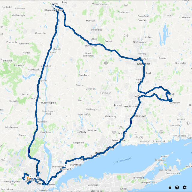Rideshare route Uber and Lyft, NJ, CT, NY, MA