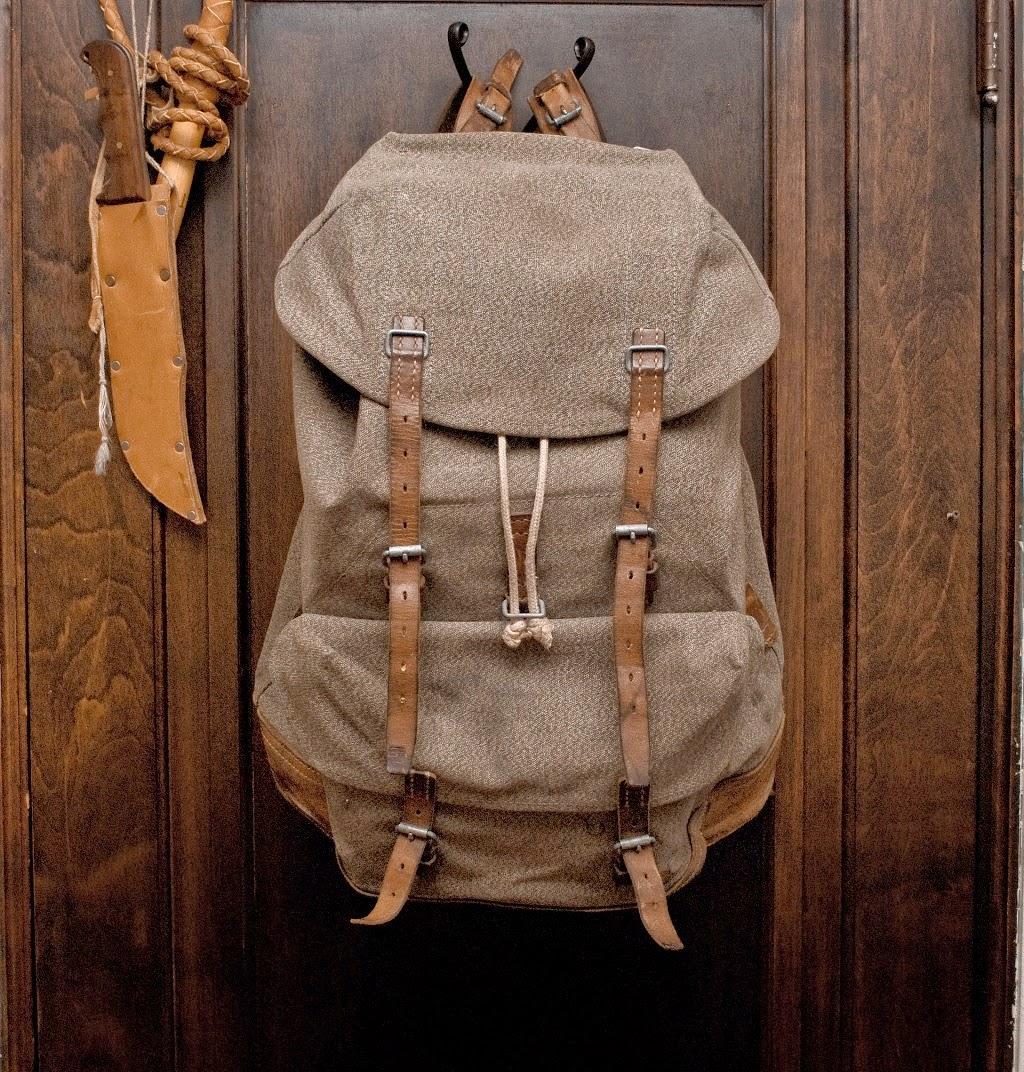 Sac à dos vintage de l'Armée suisse en toile de coton