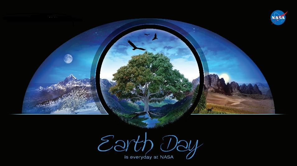 Imagem criada pela NASA para o dia da Terra