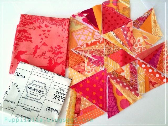 Tessellation Style Foundation Paper Piecing Modern Patchwork Pillowcase Puppilalla