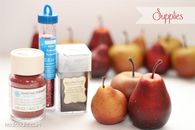 Simple and easy #DIYCraft to make beautiful glitterized apples from realcoake.com