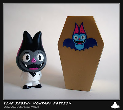 Jared Deal x Argonaut Resins Montana Edition Vladimir Resin Figure and Packaging
