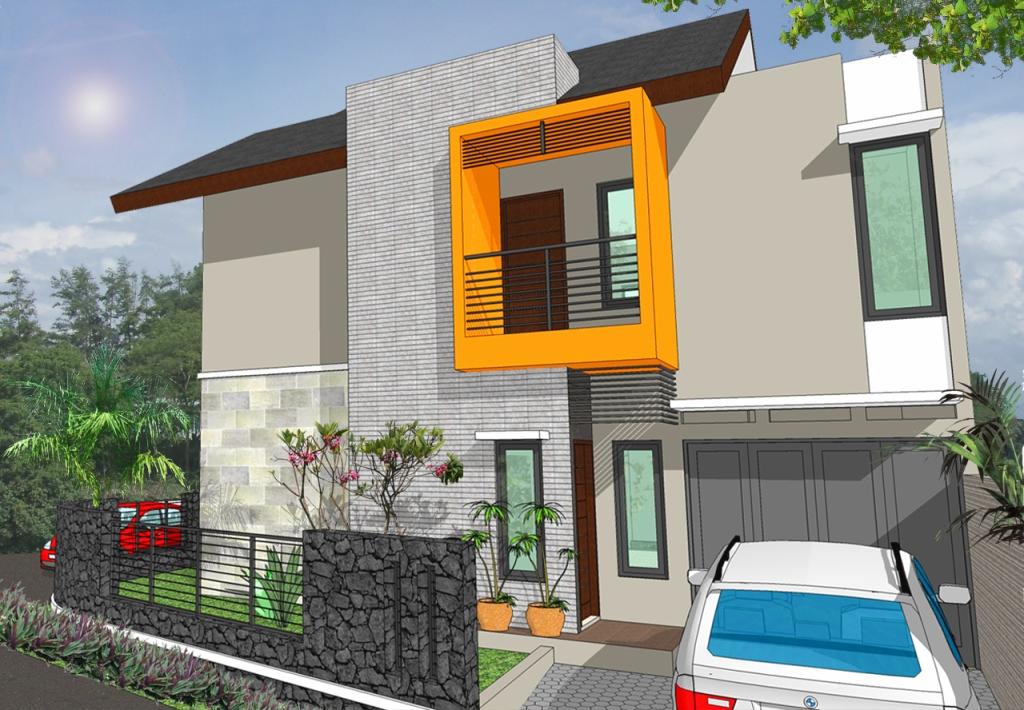 model rumah  terbaru  minimalis dan mungil desain gambar