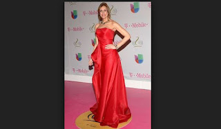 Vestido Rojo Pasion exhibido ´Por Lily Estefan