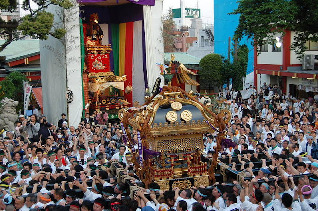 Kanda Festival (parade with 200 portable shrines) at Kanda Myojin Shrine in Tokyo