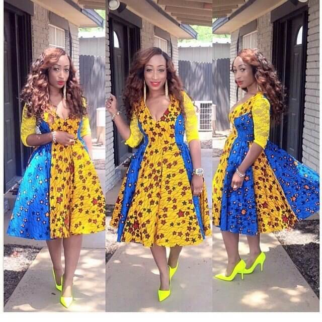 elegant, Ankara ,African ,dresses Fashion, Designs
