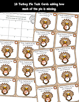 Turkey Pie Fractions Task Cards
