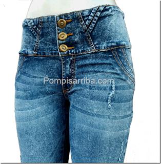 Pantalon jeans pantalones de mezclilla levanta pompa baratos de mayoreo pantalones colombianos
