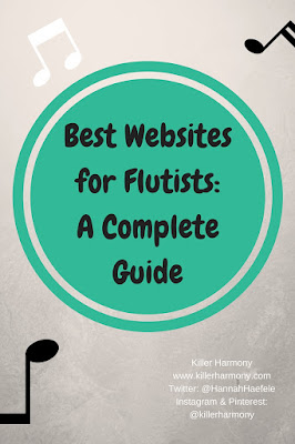 Killer Harmony | Best Websites for Flutists | Do you need help finding free sheet music, information, or accessories for your flute? I have a list of some of the best websites for flutists out there. Check out this list with links to all of the great websites.