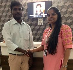 Viswanath our Engineering trainees got placed as Software Engineer after completing training