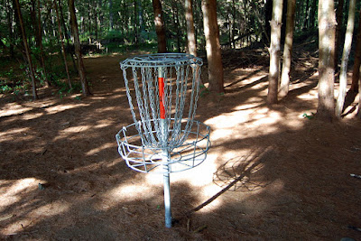 did you know there was a disc golf course at Dacey Fields?