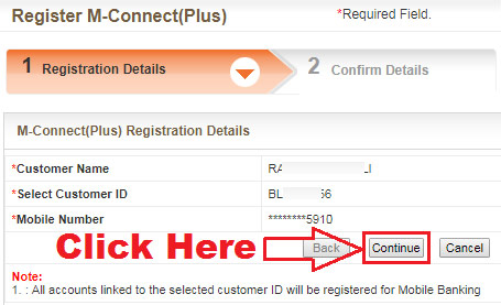 how to activate mobile banking in bank of baroda online