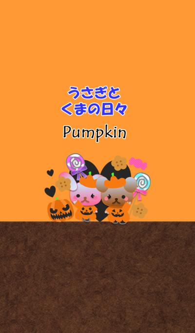 Rabbit and bear daily(Pumpkin)