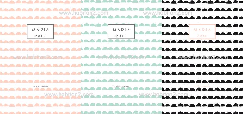 Agenda personalizada 2018 by Habitan2 | Elige la portada que más te guste y personalízala con tu nombre