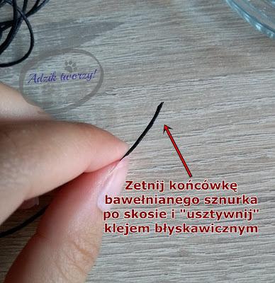 bransoletka ze sznurka jak zrobić krok po kroku