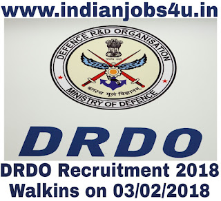 DRDO Recruitment 2018 | DRDO Jobs Walkins for RA,JRF Posts | 05 Vacancies
