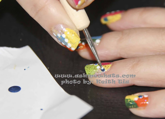 a photo of nail art tutorial