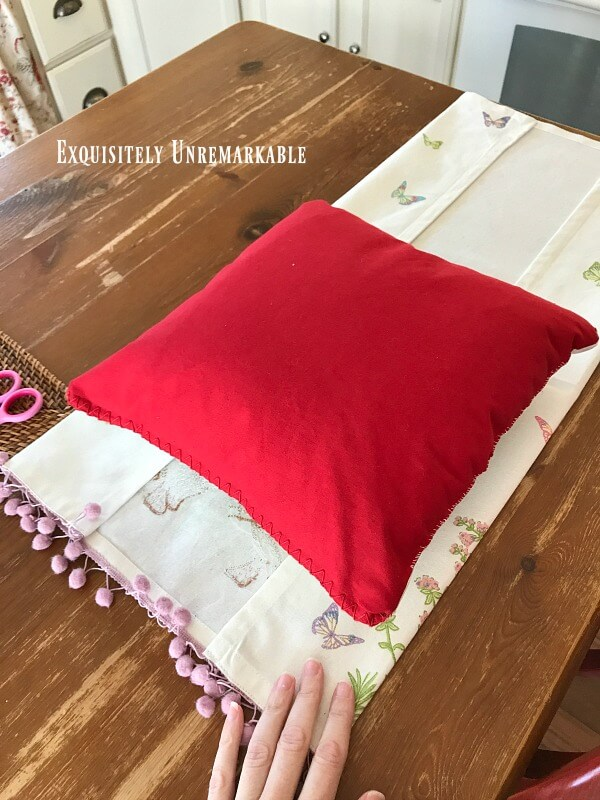 Fold Towel To Make A Pillow Cover