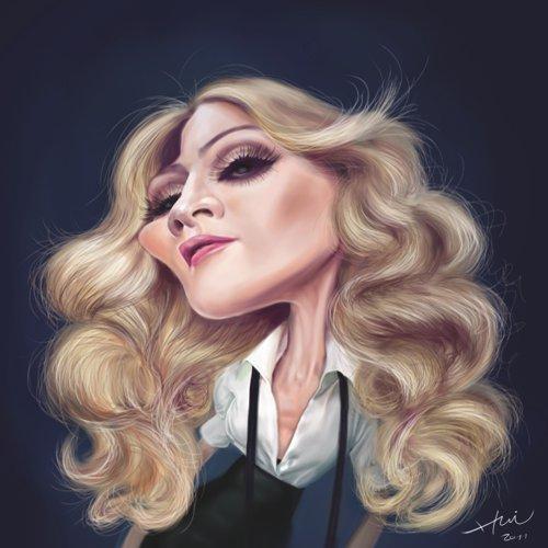 Caricatura de Madonna por Liu Chia-hui
