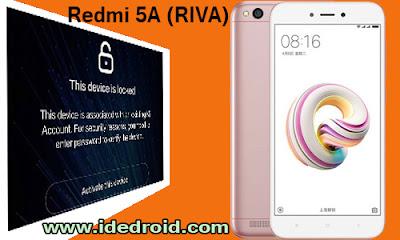 Cara Bypass Akun Mi Xiaomi Redmi 5A (RIVA) 100% Berhasil Suskes