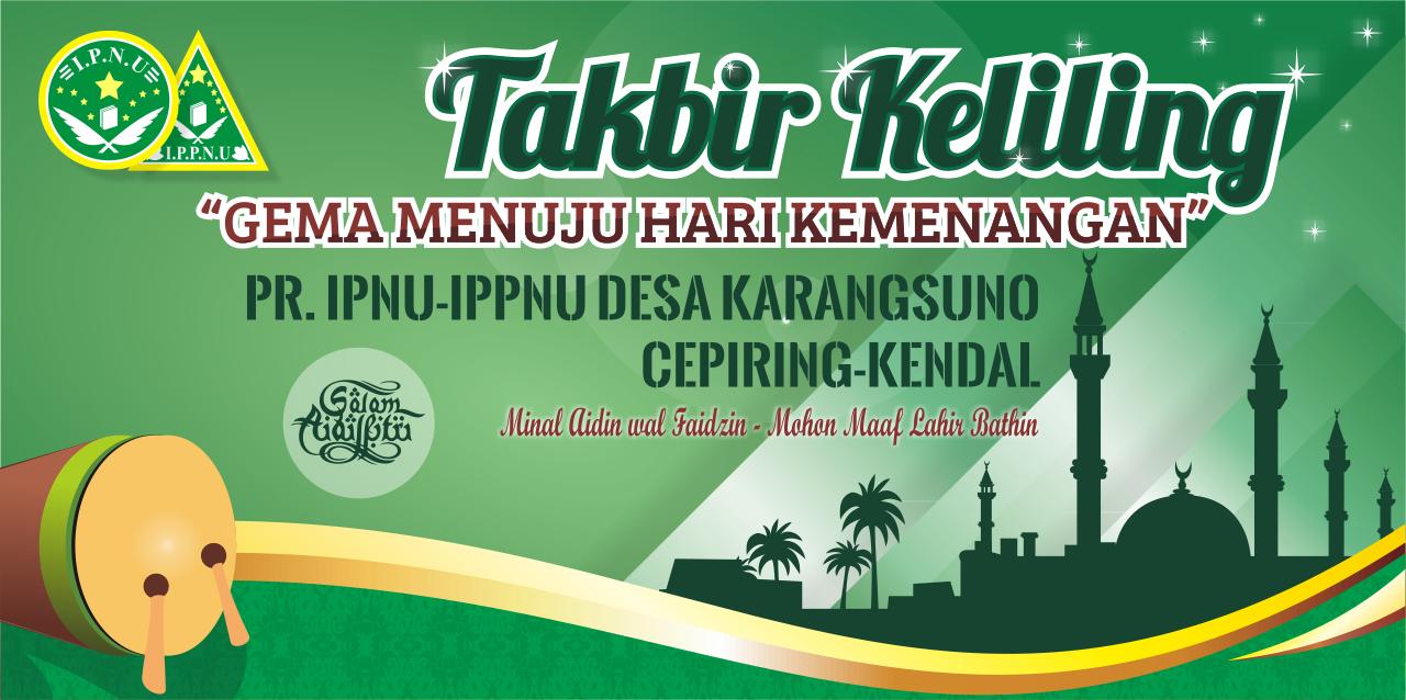 Contoh Desain Spanduk/MMT Takbir Keliling Format CDR ...