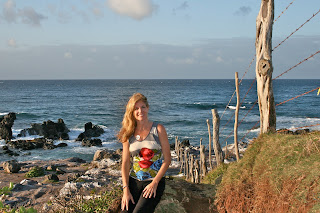 Angela by the ocean in Maui