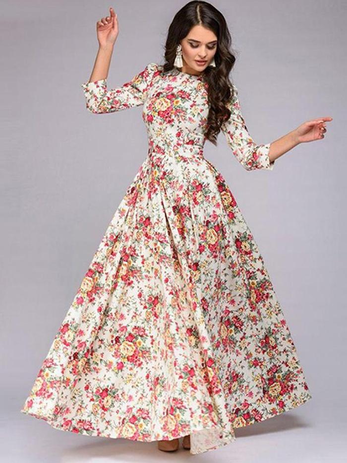https://www.dresssure.com/products/elegant-sexy-print-3-4-sleeve-o-neck-evening-dress