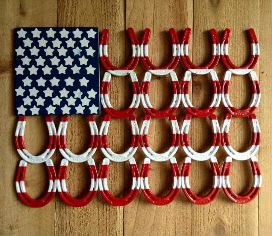 The best collection of recycle flag ideas diy for Horseshoe arts and crafts