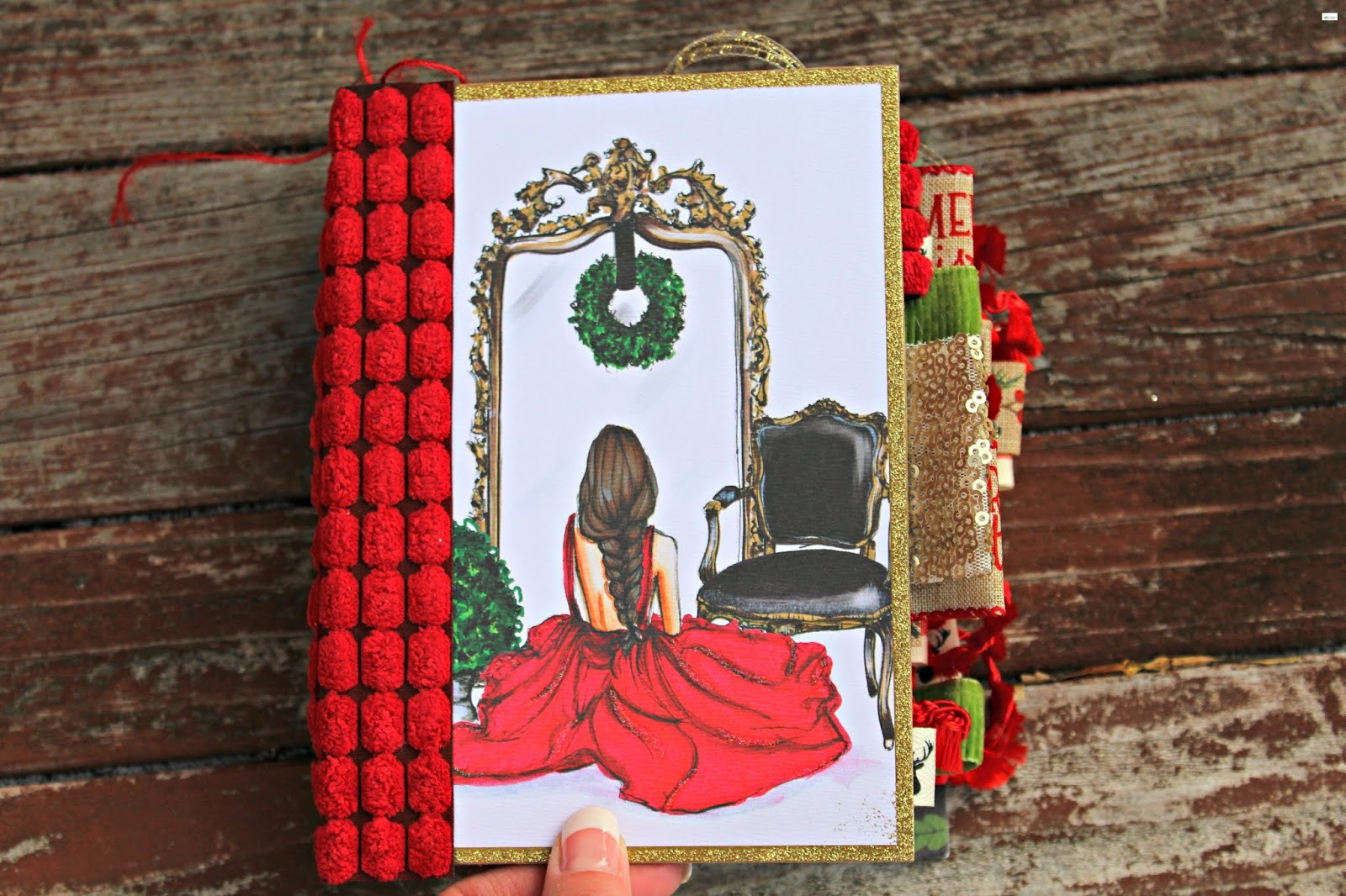 93656efd5fe Girl in Red Dress Holiday Junk Journal
