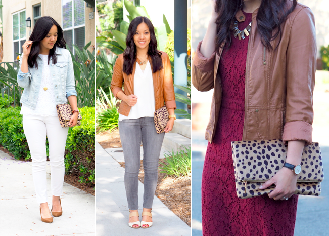 Leopard Print Clutch Outfits