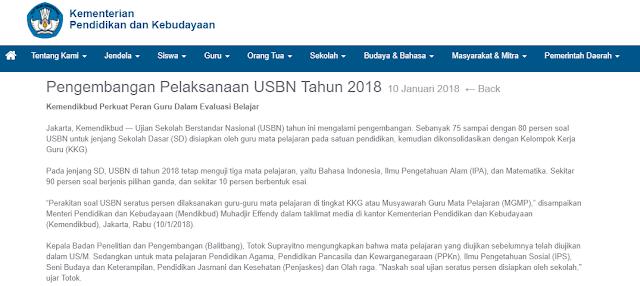 USBN SD Tahun 2018