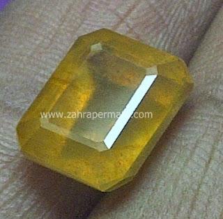 Batu Permata Yellow Saphire - ZP 442