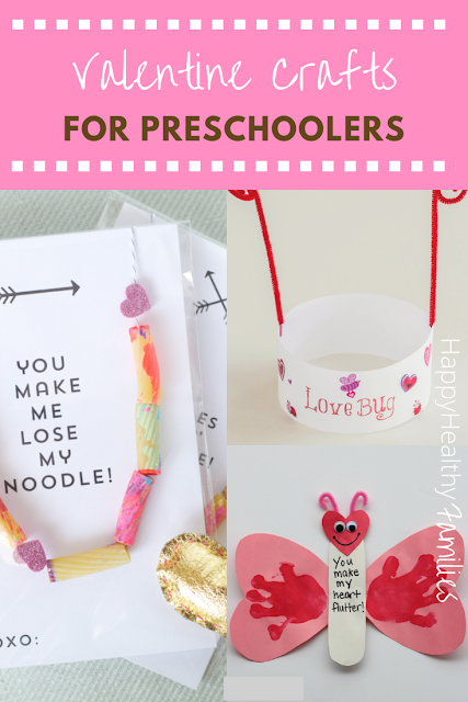 easy valentine crafts for preschoolers to make , pasta necklace, handprint tree card, footprint card,