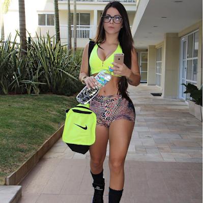 Bianca Anchieta jovem fit no Instagram