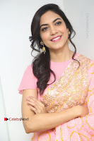 Actress Ritu Varma Pos in Beautiful Pink Anarkali Dress at at Keshava Movie Interview .COM 0372.JPG