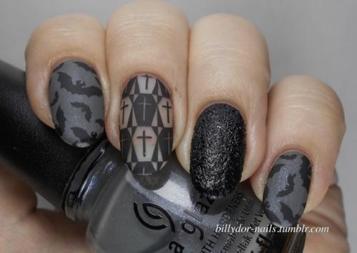 Evil Black Gothic Nail Art Essentials